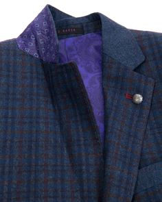 Sterling check jacket - Navy | Suits | Ted Baker