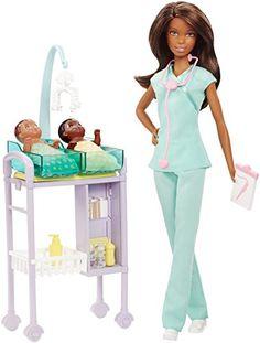 Barbie Careers African American Baby Doctor Doll & Playse... https://smile.amazon.com/dp/B01JMYPFW2/ref=cm_sw_r_pi_dp_x_7LwDyb7VAGVQK