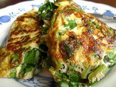 Omelet met snijbiet
