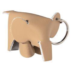 PORTE-CLES EN CUIR - ELEPHANT (Hermès petit h like)