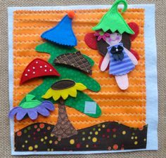 Lindy J Design...adorable fairy hat tree page