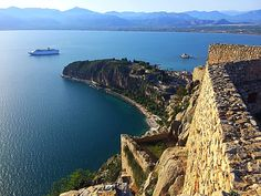 Nafplio Peloponnese Greece  https:/twitter.com/jamesciccone Castle walls Palamidi Fortress