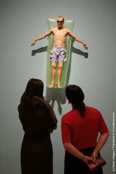 An exhibition piece entitled Drift is seen ahead of the opening of the new Ron Mueck exhibition