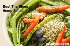 Bust The Blues Hemp Salad by Julie Daniluk. #Recipe here: https://juliedaniluk.com/recipes/bust-the-blues-hemp-salad.html
