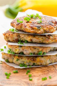 These chicken zucchini fritters are healthier than regular kotlety; being half meat and half veggie and they are super juicy and flavorful. Kids love these.