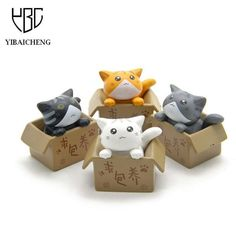 Cute Seek nurturing Cheese Cat Cartoon Anime Action Figure Resin Toys DIY Model For Children Kids Christmas Toys Girls Gifts-Action & Toy Figures-Enso Store-White-Enso Store
