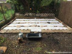 construction atelier bois. Construction d'un atelier en ossature bois. Partie 2 : Préparation du terrain et réalisation des fondations