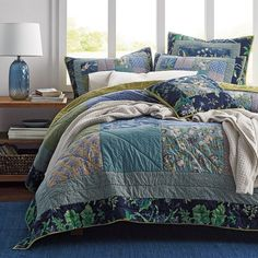 Sapphire Garden Patchwork Quilt | The Company Store