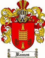 Ramos Coat of Arms / Ramos Family Crest  The associated coat of arms for this name are recorded in J.B Rietstaps Armorial General. Illustrated by V & H.V Rolland's. This Monumental work took 23 years to complete and 85,000 coats of Arms are included in this work. Registered in Spain. This Spanish, French and English surname of RAMOS is of two-origins.