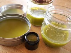 Healing balm--comfrey (helps regenerate cells), calendula (astringent), chamomile (soothing) and nettle (can help stop bleeding and soothes bites, stings, and burns). Great all round balm for minor irritations. Use on outer skin only. Do not take internally.