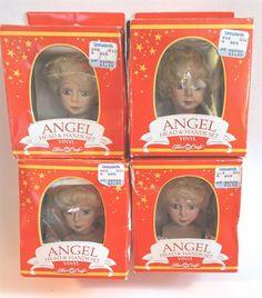 #FibreCraft Doll#AngelHeads & Hands Set Vinyl 1991 Lot of 4