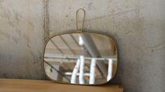 Mirror with Brass Frame | Bathroom | Natural Bed Company Bed Company, Rustic Frames, Meraki, Organic Shapes, Coast, New Homes, Contemporary, Mirror, Bathroom