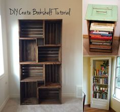 """New Post has been published on http://www.amazinginteriordesign.com/10-cool-diy-bookcase-ideas-wont-break-bank/ """"10 Cool DIY Bookcase Ideas That Won't Break The Bank If the collection of your books needs to be housed in a bookcase then you can make a..."""