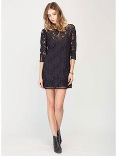 Gentle Fawn Hawk Lace Mini Dress   Black