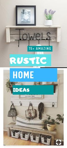 Brilliant Rustic Home Design #diy #rusticdecoration Diy Rustic Decor, Rustic Home Design, Rustic Theme, Diy Home Decor, House Design, Shelves, Decoration, Simple, Top