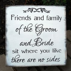 Customize in Your Colors Choose a Seat Not a Side Sign Rustic Personalized Wedding Sign  Country, Outdoor, Garden Winery Wedding