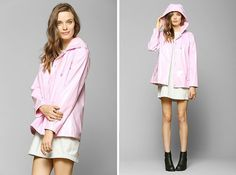 It's a light pink raincoat. 'Nuff said.