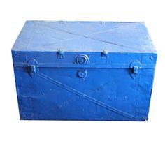 Vintage Steel Trunk - Vintage - Shops | Uncovet