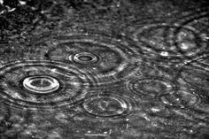 Rain Drops hit the ground