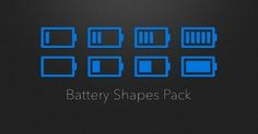 Battery Shapes Pack A collection of battery shapes with varying levels of depicted capacity by Jacob Bordieri of Shapes, Design