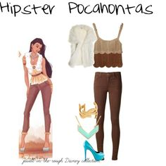 """Hipster Pocahontas"" by jewell-in-the-rough on Polyvore"