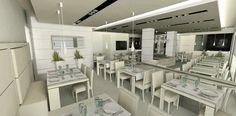 Ristorante, sala colazioni di Albergo sul lago di Garda 2 - Rendering -