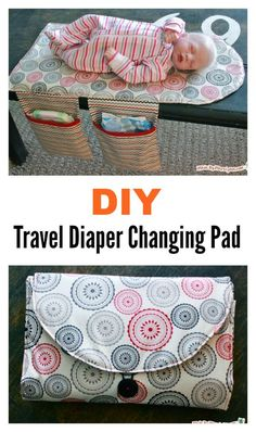 DIY Travel Diaper Changing Pad and Clutch Bag - Sewing Projects Quilt Baby, Diy Baby Gifts, Baby Crafts, Homemade Baby Gifts, Best Baby Gifts, Baby Sewing Projects, Sewing For Kids, Baby Sewing Tutorials, Bag Tutorials