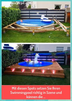 Diy Swimming Pool, Diy Pool, Swimming Pool Landscaping, Small Yard Landscaping, Backyard Pool Designs, Landscaping Ideas, Pool Backyard, Mulch Landscaping, Modern Backyard
