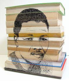 Pointillism of Mr Nelson Mandela on book structure in ink Welcome Design, Desktop Publishing, Pointillism, Nelson Mandela, Art Studios, Art Direction, Journaling, Ink, Fine Art