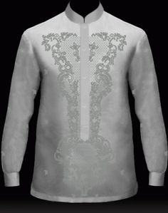 MyBarong : Men's Barong Tagalog Design it. Watch your Custom Tailor Barong come to life as you click & selec. Barong Tagalog Wedding, Barong Wedding, Filipiniana Wedding, Wedding Attire, Wedding Gowns, Filipino Wedding, Chinese Collar, Groom Outfit, Chinese Clothing