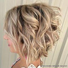 Angled, Curly Bob Haircuts