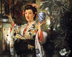 Young Lady Holding Japanese Objects, James Tissot