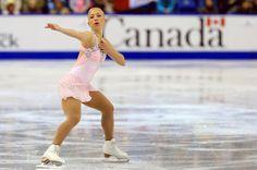 Amelie Lacoste ladies free program 2013 Skate Canada- Pink Figure Skating / Ice Skating dress inspiration for Sk8 Gr8 Designs.