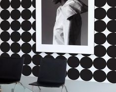 Black and white circle peel and stick wallpaper B&w Wallpaper, Nursery Wallpaper, Self Adhesive Wallpaper, Peel And Stick Wallpaper, Pattern Wallpaper, Wallpaper Ideas, Best Removable Wallpaper, Temporary Wallpaper, Shops