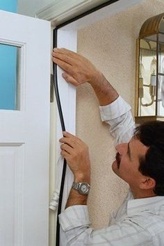 Door weather stripping can go a long way toward eliminating drafts and containing your month-to-month heating and cooling costs.