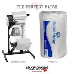 The NewAir IB Express provides onsite bubble wrap inflation to safe space in your facilities. Call us today to find your perfect match! 1.800.722.2325 http://www.beckpackaging.com/ #BeckPackaging #BeckSolutions #MachineMatchmakers