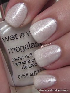 Wet n Wild - Break the Ice (Megalast line) White Nail Polish, Nail Polish Colors, Nail Polishes, Cute Nails, Pretty Nails, Pedicure, Wet N Wild Cosmetics, Hard Candy Makeup, La Nails