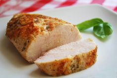 For perfect Chicken breasts: bake chicken breasts at 450 degrees F for 18-20 minutes, depending on their size. A juicy, perfect chicken breast, every time.
