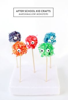 DIY Marshmallow Monsters: Cool kitchen projects to do with kids: