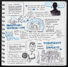 Jonas Lowgren: Exploring, sketching and other designerly ways of working & Scott Nazarian: Building a Better Starship @ Interaction 12 by evalottchen, via Flickr