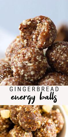 Healthy Recipe Videos, Easy Healthy Recipes, Raw Food Recipes, Snack Recipes, Cooking Recipes, Energy Snacks, Energy Bites, Vegan Energy Balls, Healthy Baking