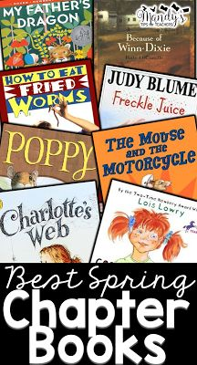 Mandy's Tips for Teachers: Best Spring Chapter Book Read Alouds