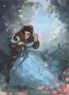 A new beginning by ~WillowWaves (I think it's beauty and the beast. Couple Drawings, Art Drawings, Gravity Falls, Pixar, Character Inspiration, Character Design, Love Art, Beauty And The Beast, Painting & Drawing