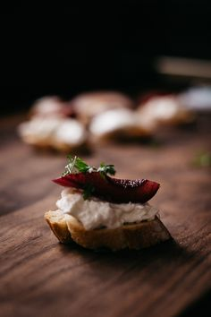 Pour a glass of Vintner's Reserve Pinot Noir for yourself, and use the rest to slow poach bosc pears to perfection. Sliced and served over creamy burrata cheese and warm crostini toasts, and you have a perfect appetizer to serve post-holiday guests.