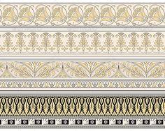 Set of Four Decorative Borders
