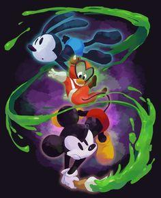 Disney Pixar, Disney Epic Mickey, Arte Disney, Disney Fan Art, Disney And Dreamworks, Disney Love, Disney Magic, Disney Characters, Oswald The Lucky Rabbit
