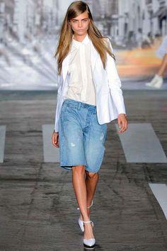 #Denim #WhiteShirt #DKNY #Tendencias #Moda #Primavera #SS13