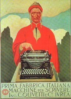 Pubblicità alla prima macchina per scrivere Olivetti, Ivrea, Piemonte