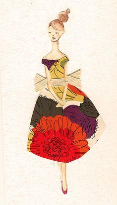 illustration, figure, woman, front. by Emma Block