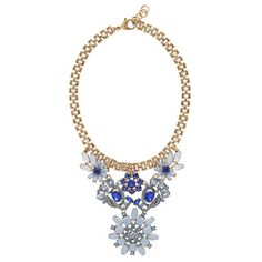 "Lulu Frost for J.Crew 100-year necklace. $228 17"" w/ 1 1/4"" extender. It would be fun to try to reproduce this w/ vintage earrings and pins."